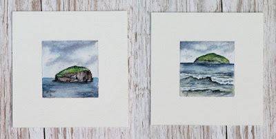 Watercolour paintings of Scotland seascapes