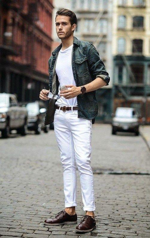 como usar calça branca masculina homem