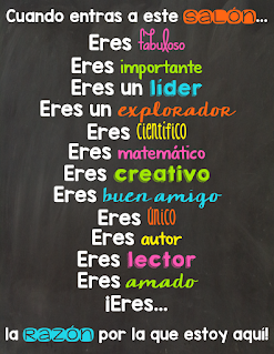 Spanish inspirational phrases for the bilingual classroom