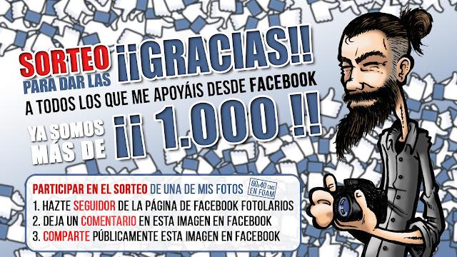 Sorteo 1.000 seguidores en Facebook