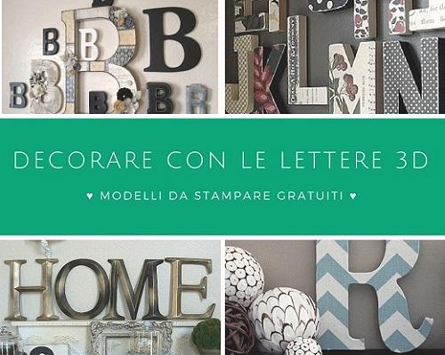 Lettere dell 39 alfabeto tridimensionali pdf da stampare for Creare casa in 3d