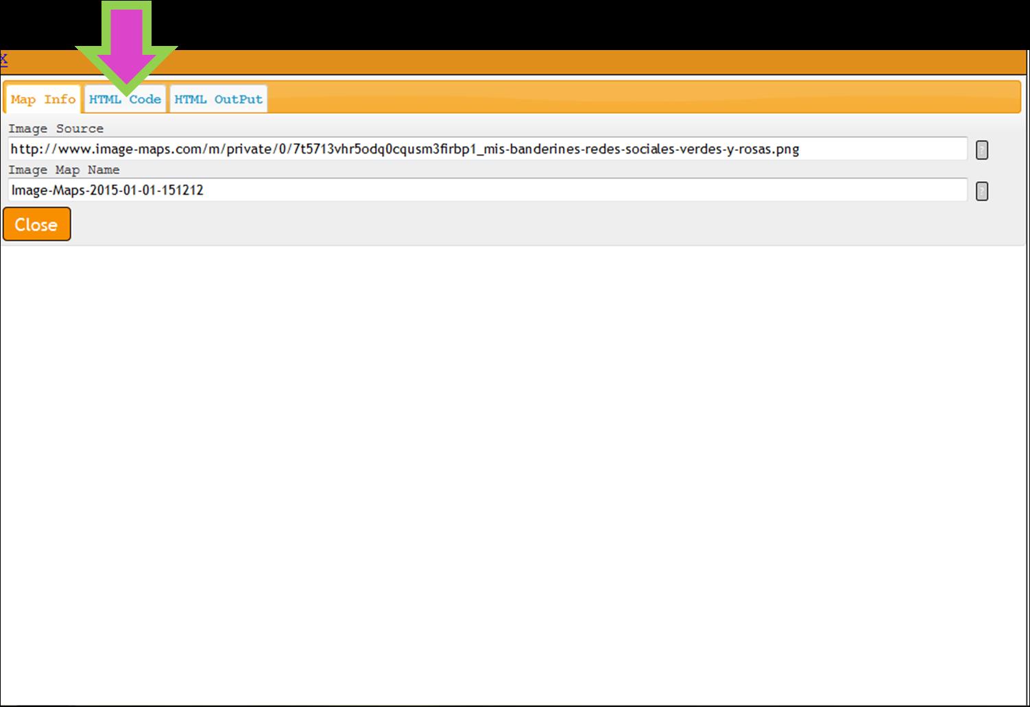 HTML para mapeo