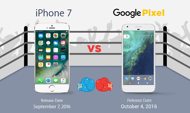 Google Pixel Vs iPhone 7 - Difference and Comparison