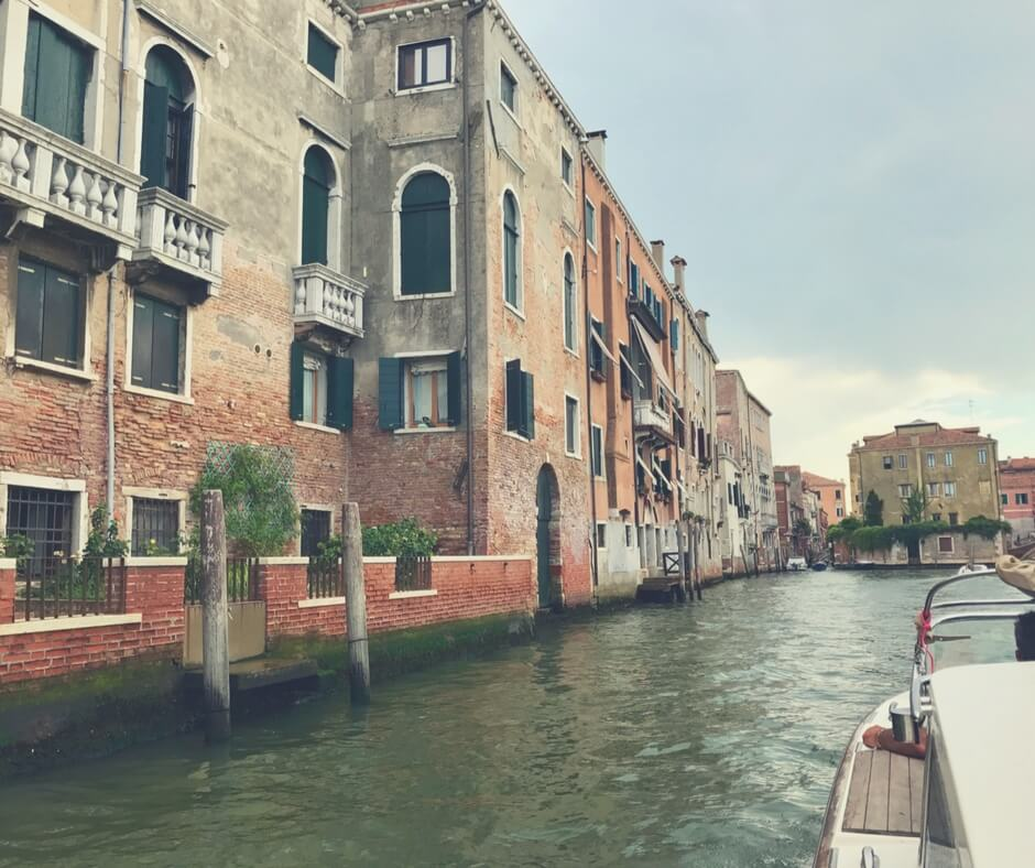 Venice, along the canal.