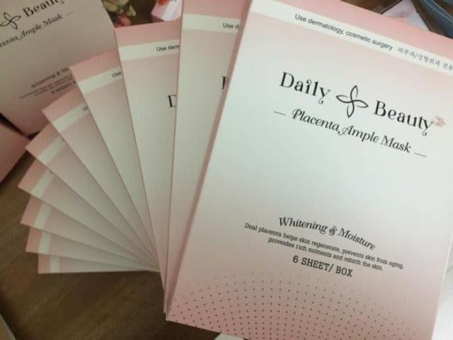 Review mặt nạ nhau thai cừu Hàn Quốc Placenta Ample Mask
