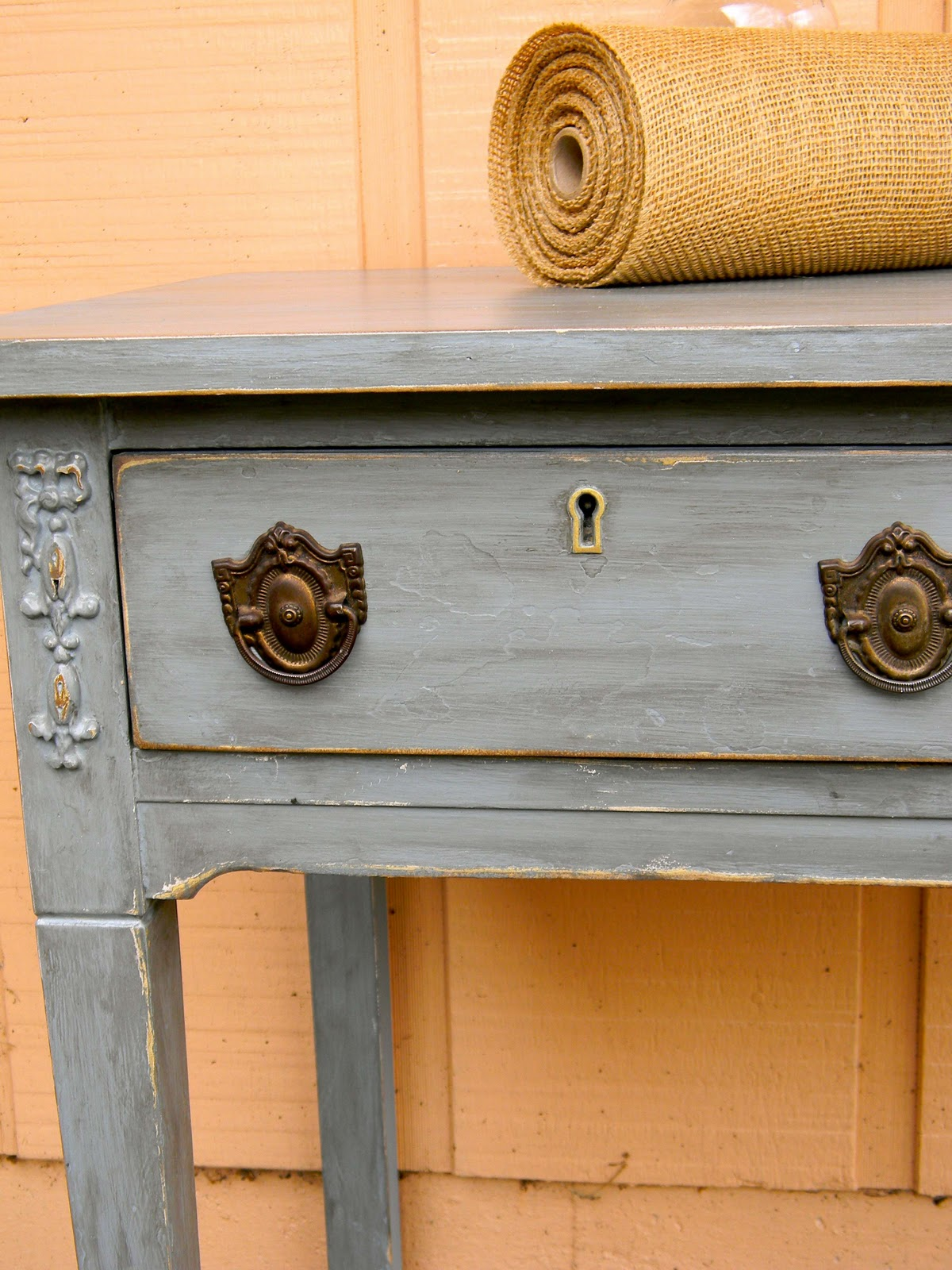 Emily S Up Cycled Furniture Tall Blue Grey Distressed Dresser: Emily's Up-cycled Furniture: Veneer O How I Despise Thee