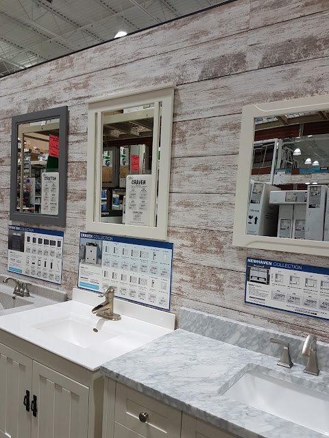 sink displays in hardware store