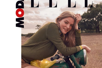Roos Abels Goes Glamping In Outdoor Looks For Elle Italy