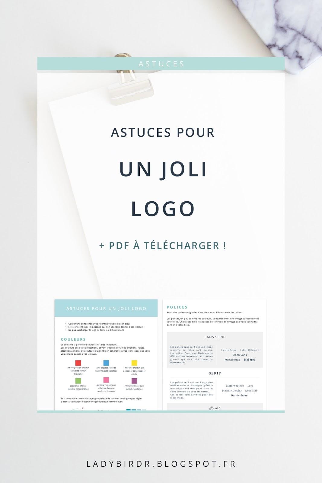 Astuces pour un joli logo + PDF à télécharger