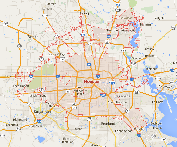 City Of Houston Map under the raedar: The Shapes of Cities City Of Houston Map