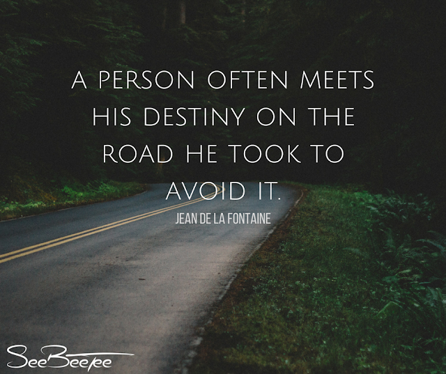 5. A person often meets his destiny on the road he took to avoid it. - Jean De La Fontaine