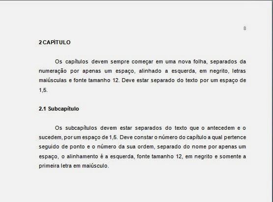 DESENVOLVIMENTO (CAPÍTULOS E SUBCAPÍTULOS) ABNT  08/02/2018