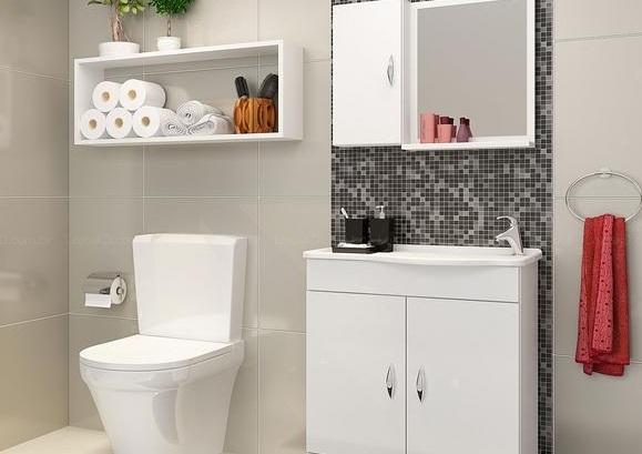 Decoração  5 Dicas Para Banheiros Pequenos  Taty Campos -> Nicho Para Banheiro Toalhas