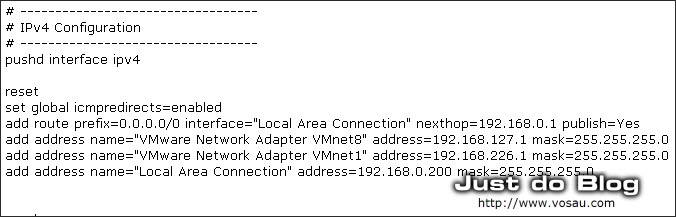 config network IP and DNS by command line