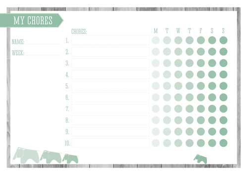 Free Printable Kid's Chore Chart - Hemlock
