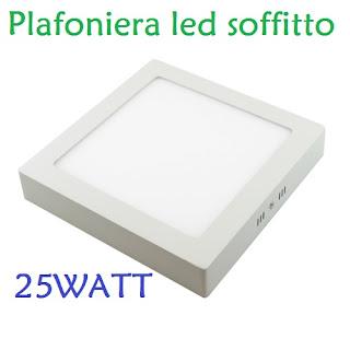 plafoniera led 24w