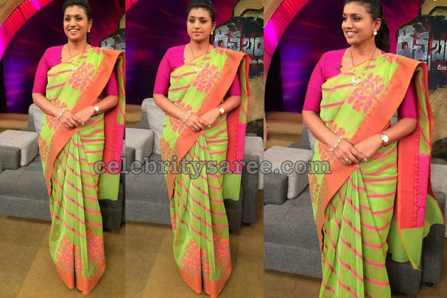 Roja Light Green Silk Saree
