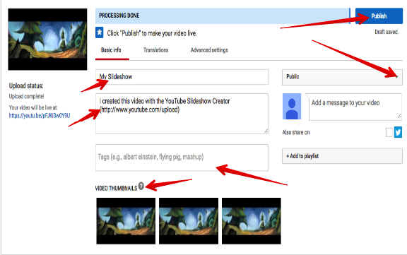 Teachers Guide to Creating Photo/Audio Slideshows Using YouTube
