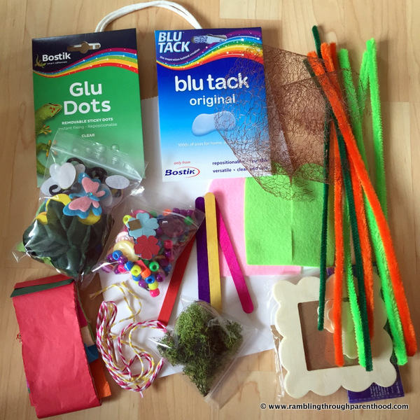 This month's Bostik challenge - Spring crafts