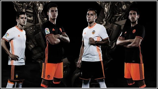 Valencia CF 2016-17 adidas Home and Away Kits