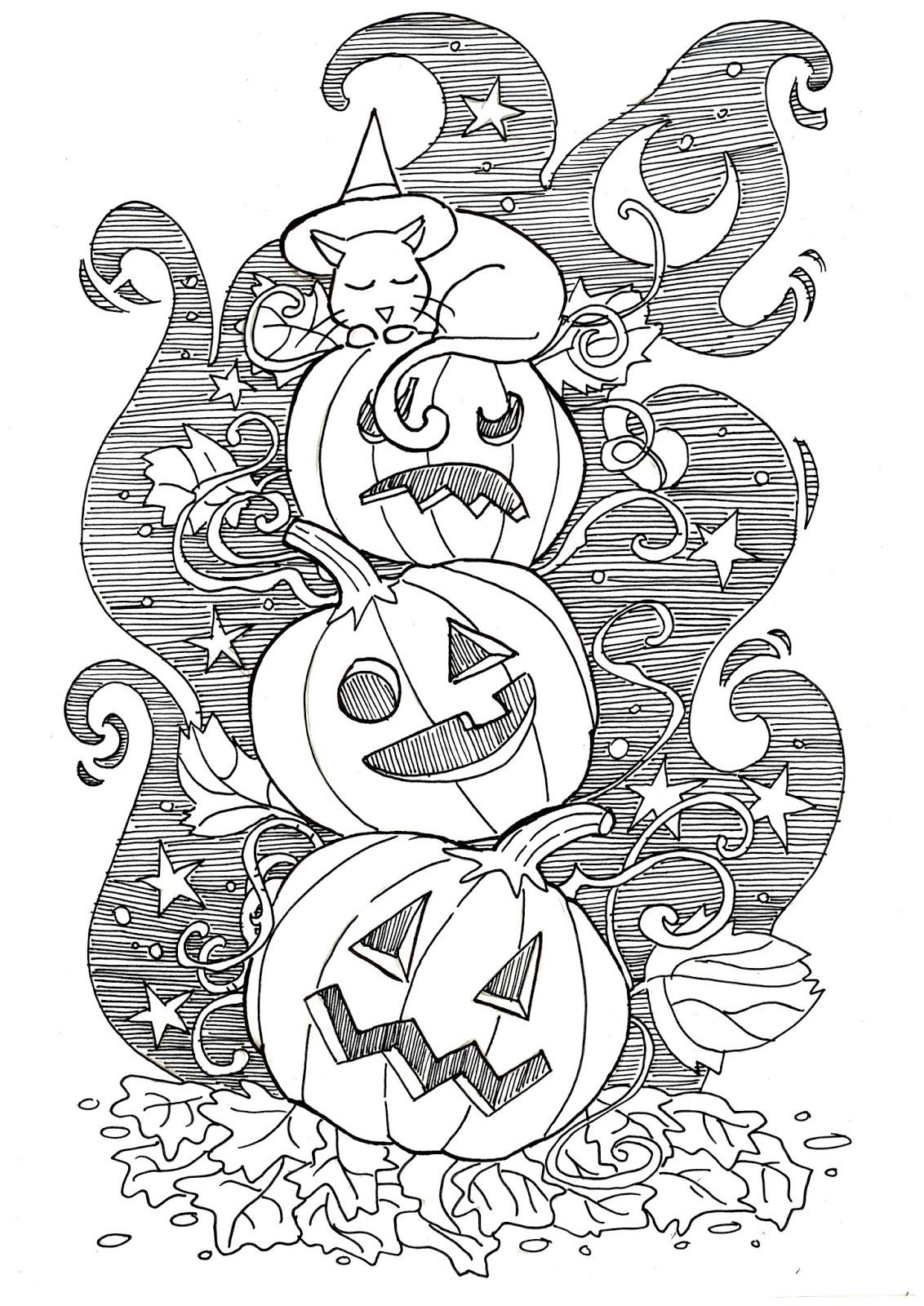Kangel Komix Halloween Disegno Da Colorare