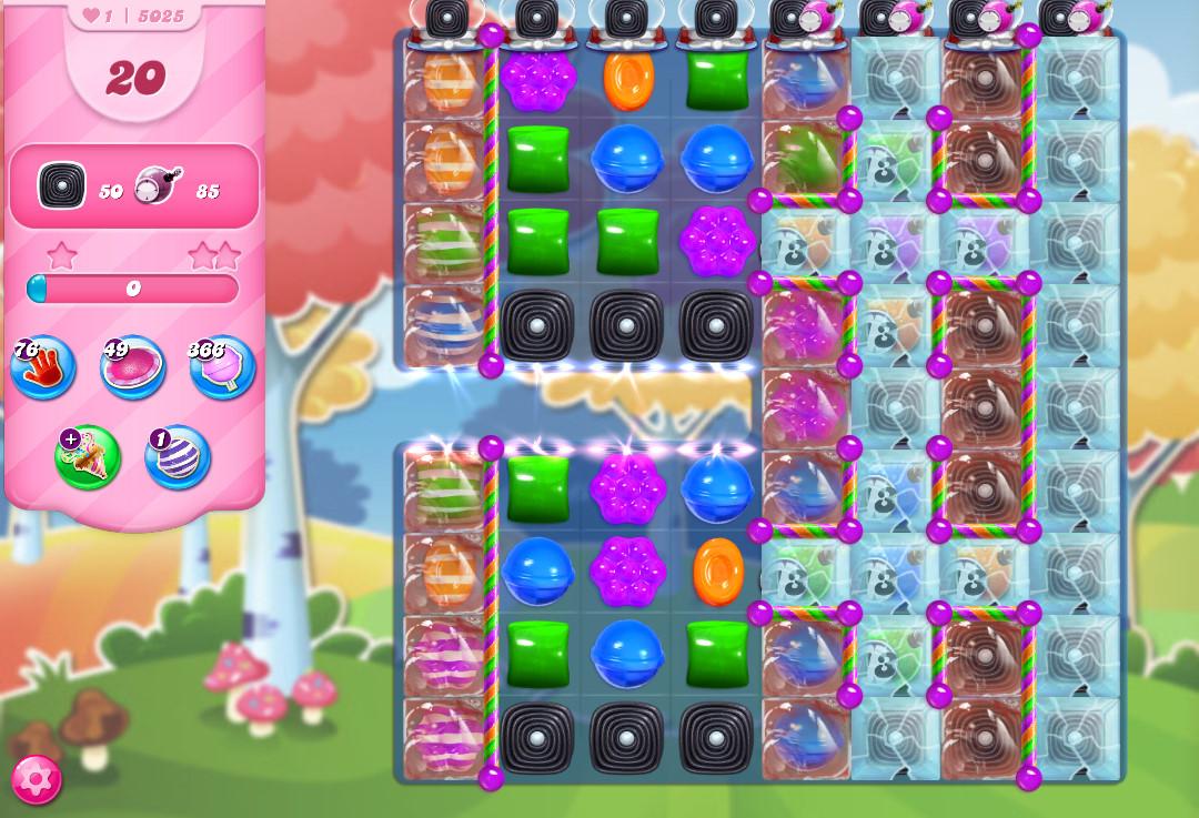 Candy Crush Saga level 5025
