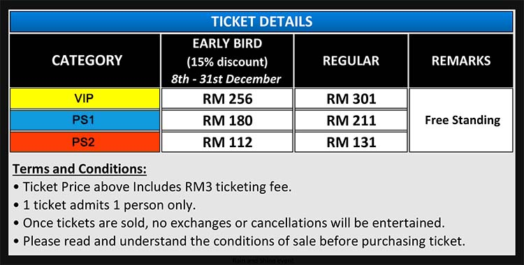 Christina Perri The Head or Heart Tour Live in Malaysia Ticket Price 2015