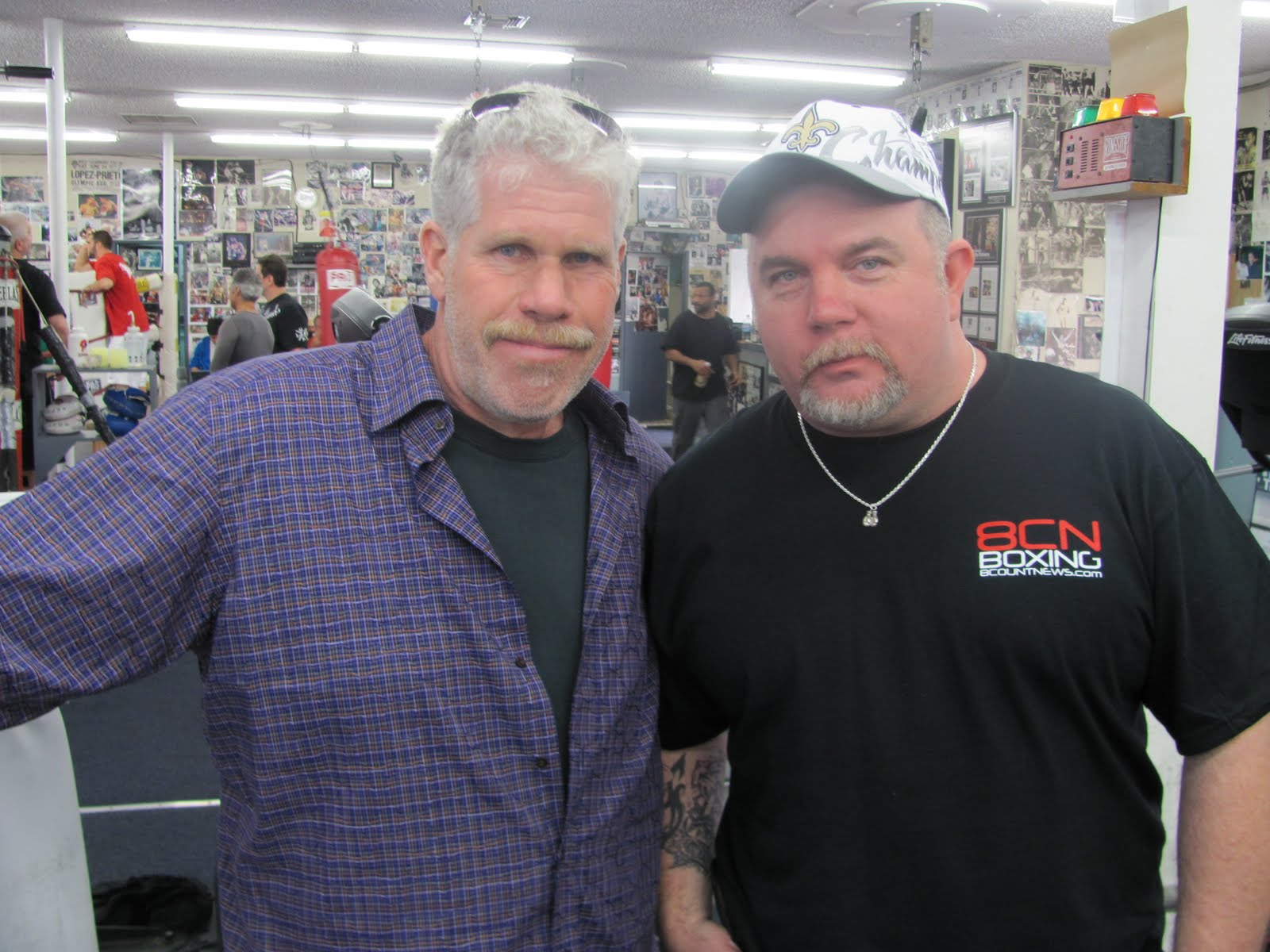 Brad With Actor Ron Perlman
