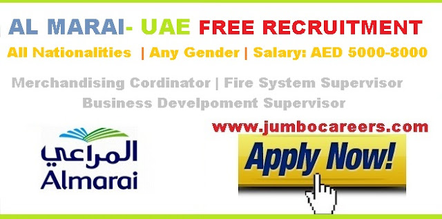 Al Marai job salary in UAE.
