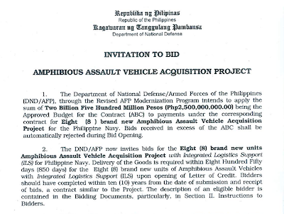 Philippine Defense News Dnd Invites Bidders For 8
