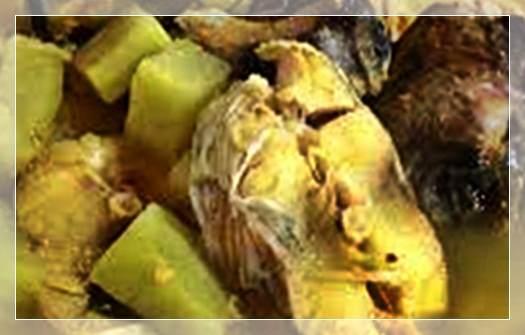 Gambar sayur mrica masakan khas kabupaten rembang, Jawa Tengah.