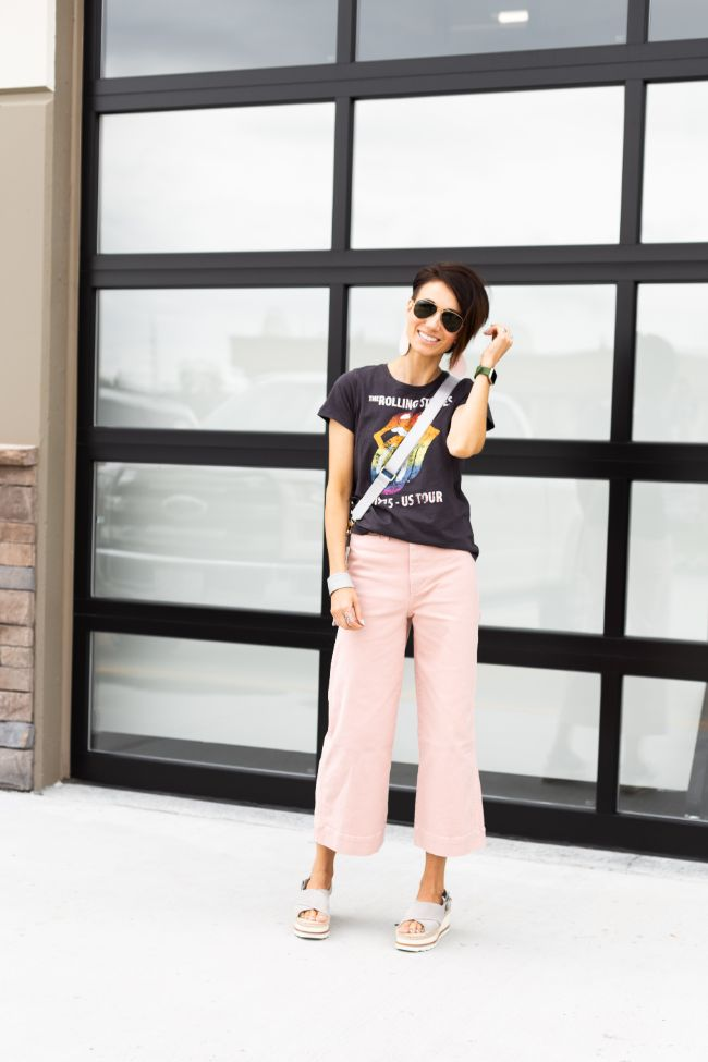 One Little Momma - Pink Desert, a Graphic Tee & Pink Pants
