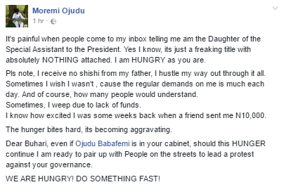 Daughter of Babafemi Ojudu - Pres. Buhari