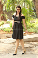 Mannara Chopra in Short Off Shoulder Black Dress ~  Exclusive 063.JPG