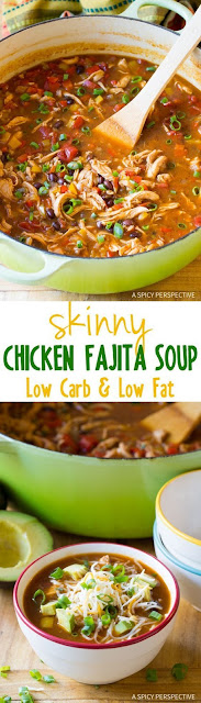 Skinny Chicken Fajita Soup