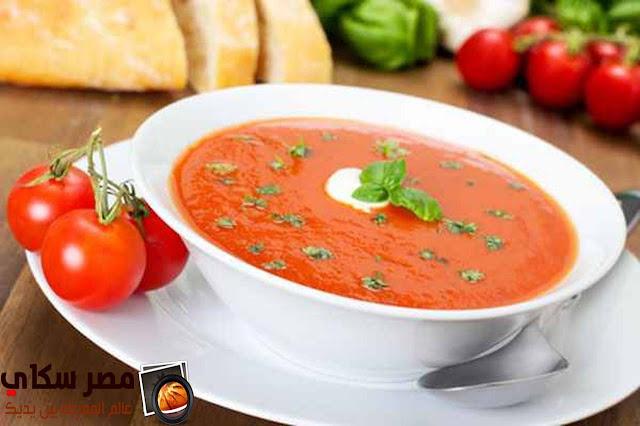 حساء الطماطم وطريقة الطهو لأصحاب الريجيم tomato soup