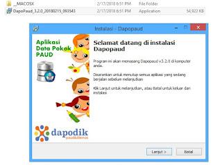 cara instal dapodik paud versi 3.2