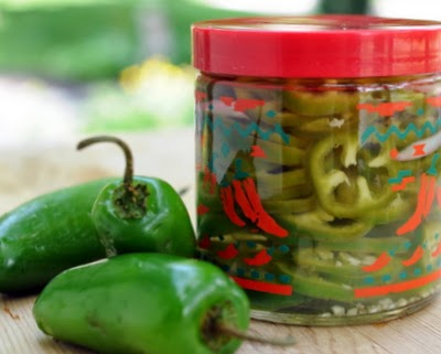 Pickled Jalapeño Rings ~ easy homemade refrigerator pickles, no canning required ~ KitchenParade.com