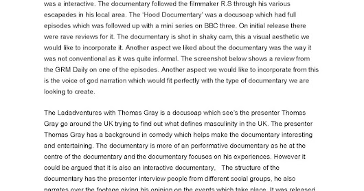 analyze the traditional documentary and the docusoap essay James curtis, making sense of documentary photography, page 2 photographic image is grounded in a belief that a photograph is a mechanical.