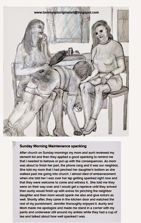 Femdom maintenance spanking