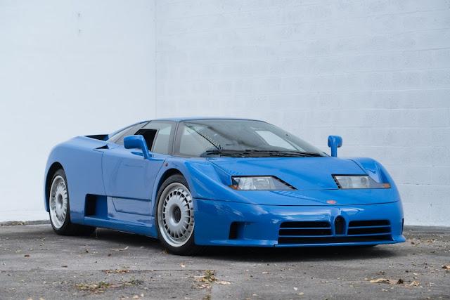 Bugatti EB 110 1990s French supercar