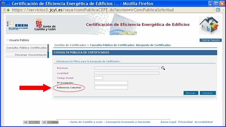 comprobar certificados registrados con referencia catastral