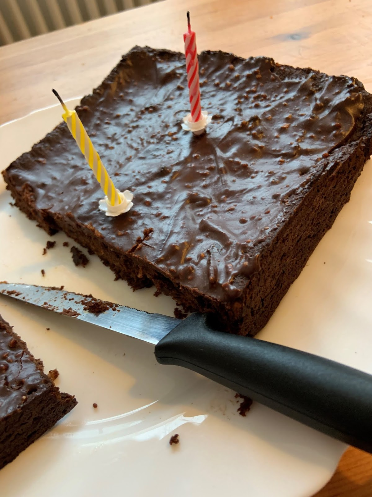 Magnificent Vegan Sweet Potatoe Brownies Best Birthday Cake Option For A Personalised Birthday Cards Paralily Jamesorg