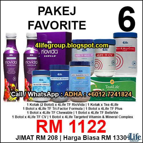 foto Pakej Favorite 6 - 4Life Malaysia
