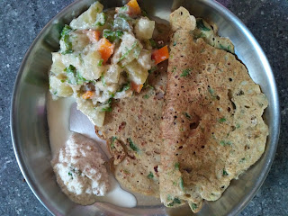 Single protein Barnyard millet  (Kuthiraivaali) adai, Aviyal, Chutney