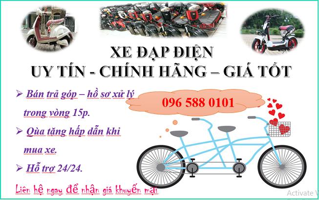 Xe đạp điện các loại có bán trả góp.