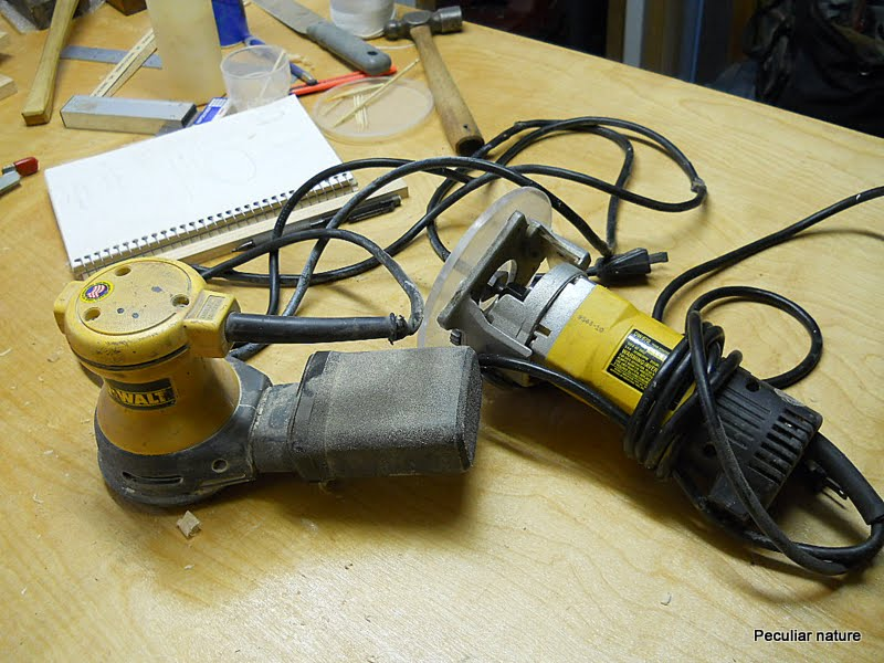 DeWalt DW 421 sander and DW 670 laminate trimmer