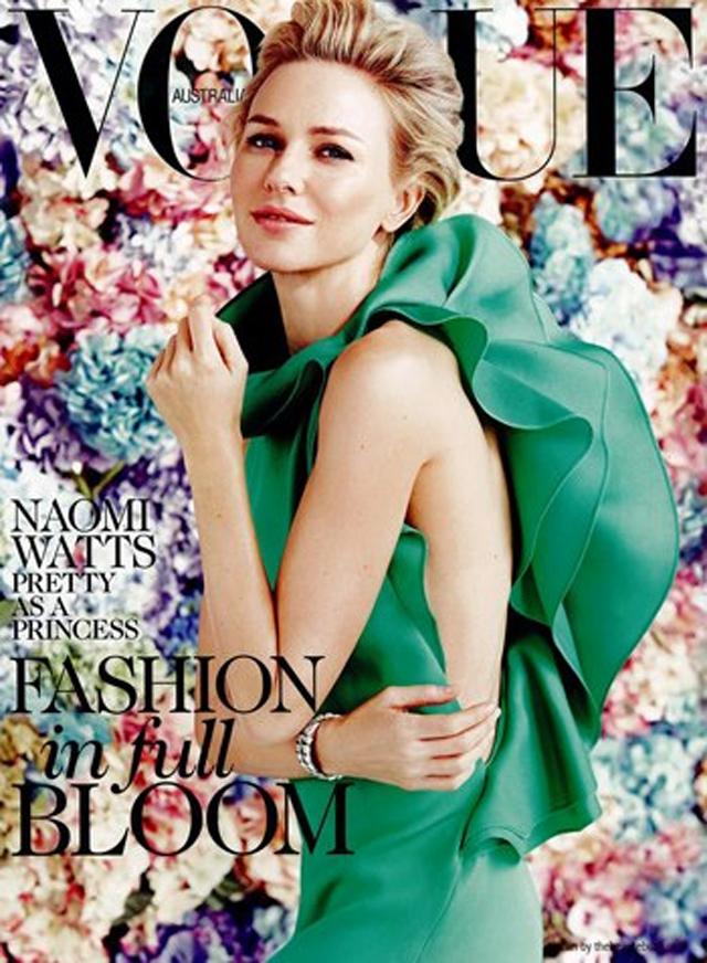 f7c08726e Naomi Watts covers Vogue Australia February 2013 in Gucci