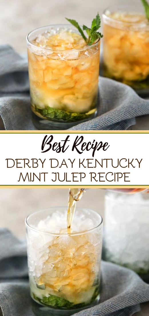 DERBY DAY KENTUCKY MINT JULEP RECIPE #healthydrink #easyrecipe