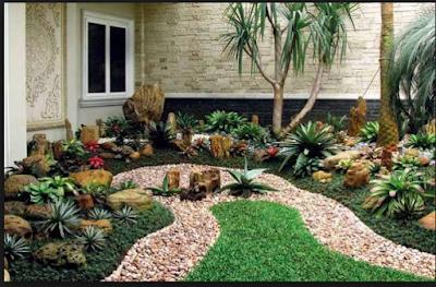 Inspirasi Batu Alam Untuk Hiasan Taman Minimalis